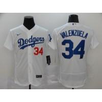 Fernando Valenzuela Los Angeles Dodgers White Baseball Jersey