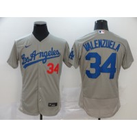 Fernando Valenzuela Los Angeles Dodgers Grey Baseball Jersey