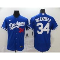 Fernando Valenzuela Los Angeles Dodgers Blue Baseball Jersey