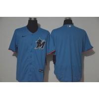 Miami Marlins Blue Baseball Jersey