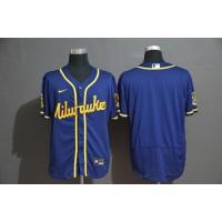 Milwaukee Brewers Blue Baseball Jersey