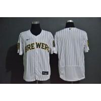 Milwaukee Brewers White Baseball Jersey