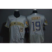 Robin Yount Milwaukee Brewers Grey Baseball Jersey