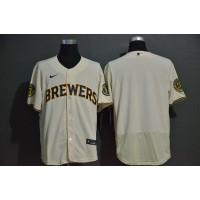 Milwaukee Brewers Cream White Baseball Jersey