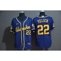 Christian Yelich Milwaukee Brewers Blue Baseball Jersey