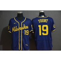 Robin Yount Milwaukee Brewers Blue Baseball Jersey