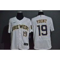 Robin Yount Milwaukee Brewers White Baseball Jersey