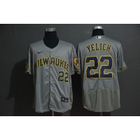 Christian Yelich Milwaukee Brewers Grey Baseball Jersey