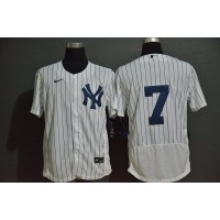 Mickey Mantle New York Yankees White Baseball Jersey (no name)