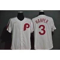 Bryce Harper Philadelphia Phillies Retro White Baseball Jersey