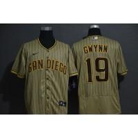 Tony Gwynn San Diego Padres Light Brown Baseball Jersey