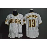 Manny Machado San Diego Padres White Pinstripe Baseball Jersey