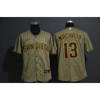 Manny Machado San Diego Padres Light Brown Baseball Jersey