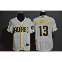 Manny Machado White & Gold San Diego Padres Baseball Jersey