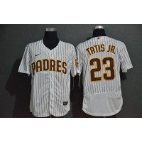 Fernando Tatís Jr. San Diego Padres White Pinstripe Baseball Jersey