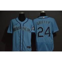 Ken Griffey Jr. Seattle Mariners Light Blue Baseball Jersey