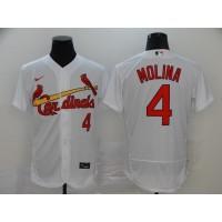 Yadier Molina St. Louis Cardinals White Baseball Jersey