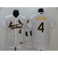 Yadier Molina White & Gold St. Louis Cardinals Baseball Jersey
