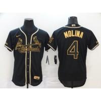 Yadier Molina Black & Gold St. Louis Cardinals Baseball Jersey