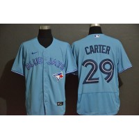 Joe Carter Toronto Blue Jays Light Blue Baseball Jersey