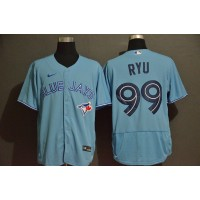 Hyun-jin Ryu Toronto Blue Jays Light Blue Baseball Jersey
