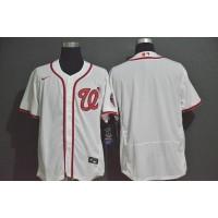 Washington Nationals Retro White Baseball Jersey