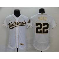 Juan Soto White & Gold Washington Nationals Baseball Jersey
