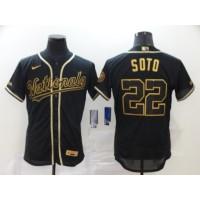 Juan Soto Black & Gold Washington Nationals Baseball Jersey