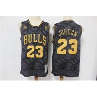 Michael Jordan Chicago Bulls Vintage Black and Gold Edition