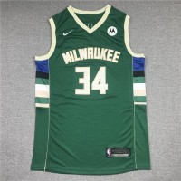 Giannis Antetokounmpo Milwaukee Bucks Green Jersey