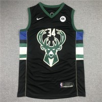 Giannis Antetokounmpo Milwaukee Bucks Black Jersey
