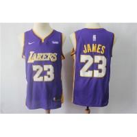 LeBron James Los Angeles Lakers 2017-18 Purple Jersey