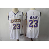 LeBron James Los Angeles Lakers 2017-18 White Jersey