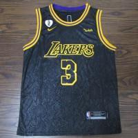 Anthony Davis 2020 Black Mamba Los Angeles Lakers Jersey with Gigi Bryant Heart Patch** Finals Logo Option