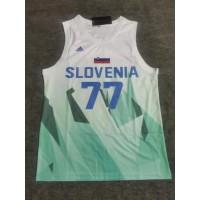 *Luka Dončić Slovenia Tokyo 2020 Olympics White/Light Blue Jersey