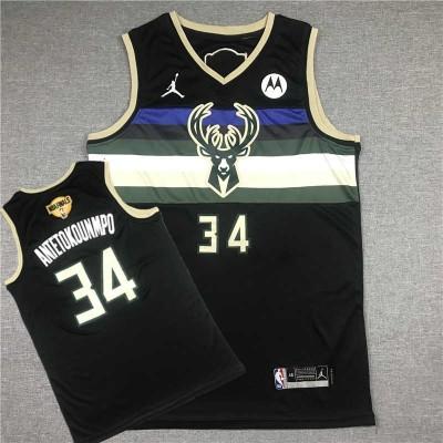 **Giannis Antetokoumpo Milwaukee Bucks 2021 Statement Jersey - Finals Logo Edition