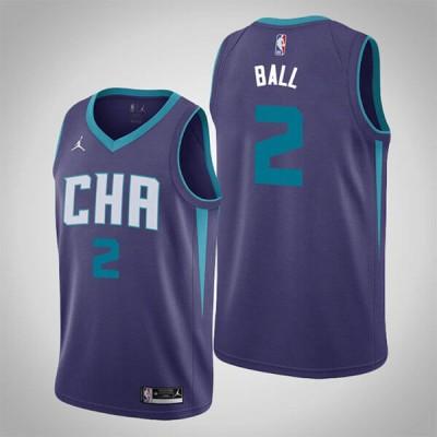 LaMelo Ball Charlotte Hornets 2020-21 Statement Purple Jersey