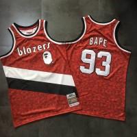 BAPE X Mitchell & Ness Special Edition Portland Trail Blazers Jersey - Super AAA Version