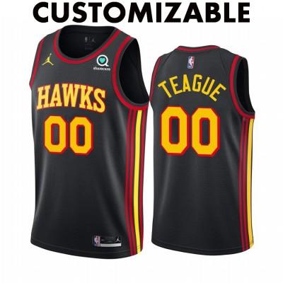 *Atlanta Hawks 2020-21 Black Customizable Jersey
