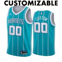 *Charlotte Hornets 2020-21 Teal Customizable Jersey