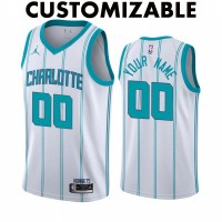 *Charlotte Hornets 2020-21 White Customizable Jersey