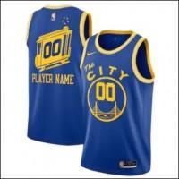 "Golden State Warriors ""The City"" Blue Customizable Jersey"