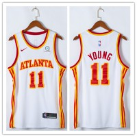 *Trae Young 2020-21 Atlanta Hawks White Jersey