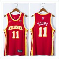 *Trae Young 2020-21 Atlanta Hawks Red Jersey