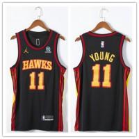 *Trae Young 2020-21 Atlanta Hawks Black Jersey
