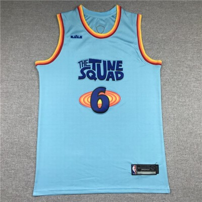 King James Space Jam 2 Tune Squad Blue Jersey