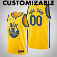 *Golden State Warriors 2020-21 Yellow Statement Customizable Jersey