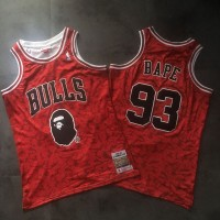 BAPE X Mitchell & Ness Special Edition Chicago Bulls Jersey - Authentic Style Version (Super AAA)