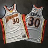 Stephen Curry Mitchell & Ness GSW Rookie Season White Jersey - Super AAA