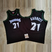Kevin Garnett Mitchell & Ness Minnesota Timberwolves 1997-98 Rookie Season Black Jersey - Super AAA